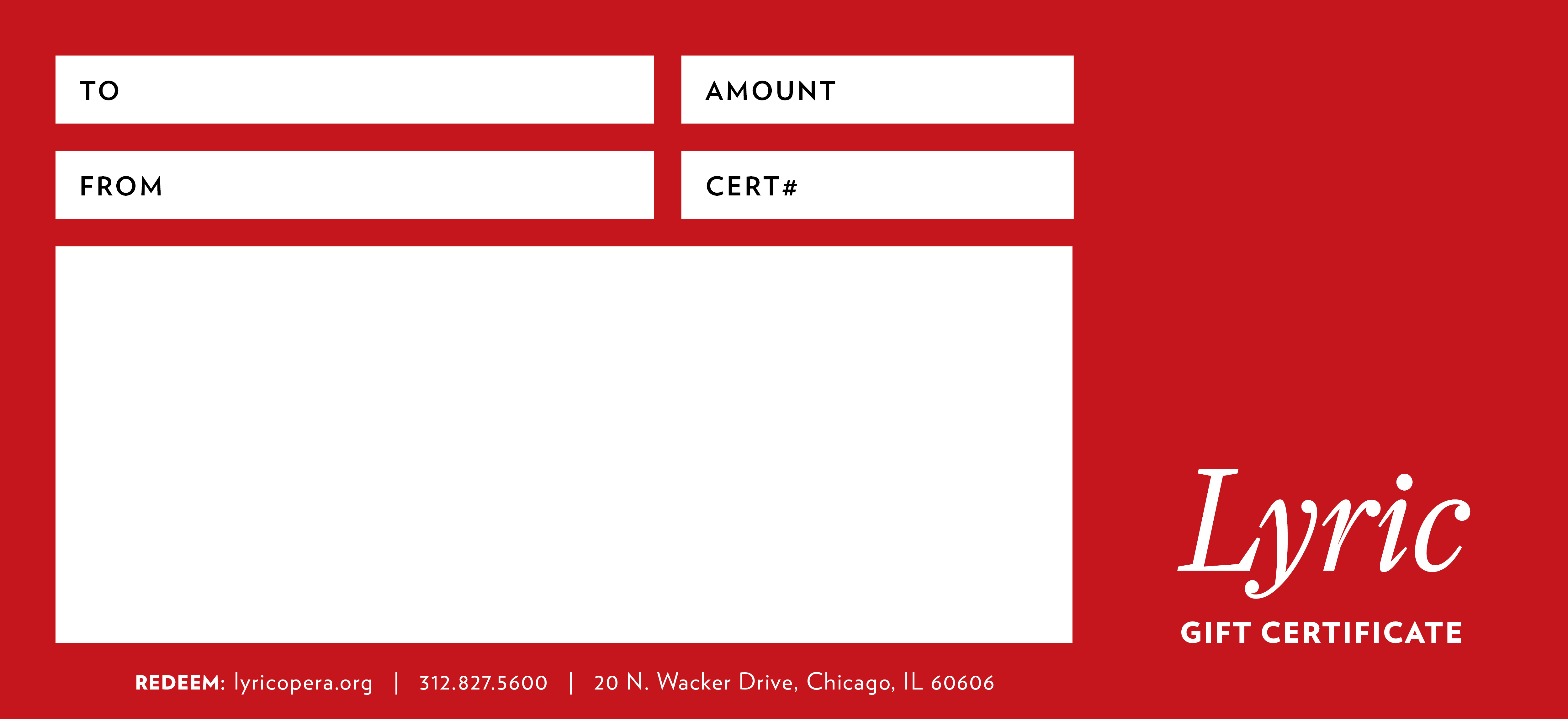 Gift certificates lyric opera of chicago lyric red negle Images