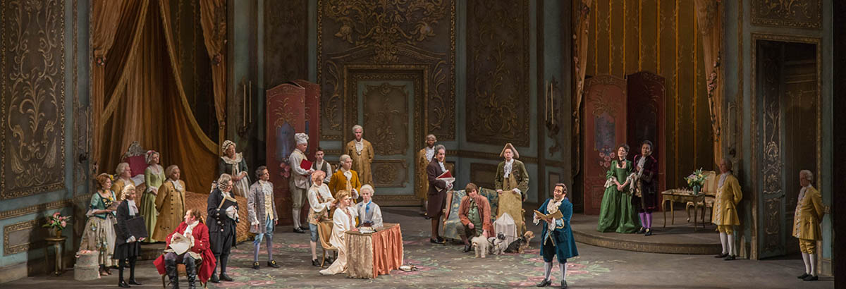 A scene from the opera Der Rosenkavalier at Lyric Opera of Chicago.