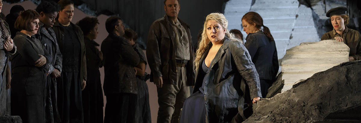 Christine Goerke as Cassandre in Les Troyens - The Trojans - at Lyric Opera of Chicago.