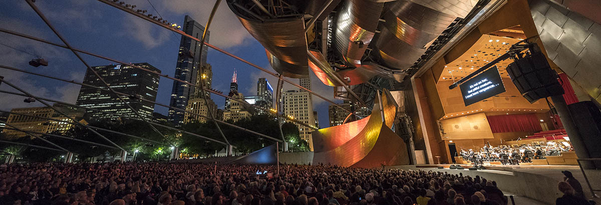 Stars of Lyric Opera at Millennium Park - Opera concert in the park at the Jay Pritzker Pavilion in Chicago.