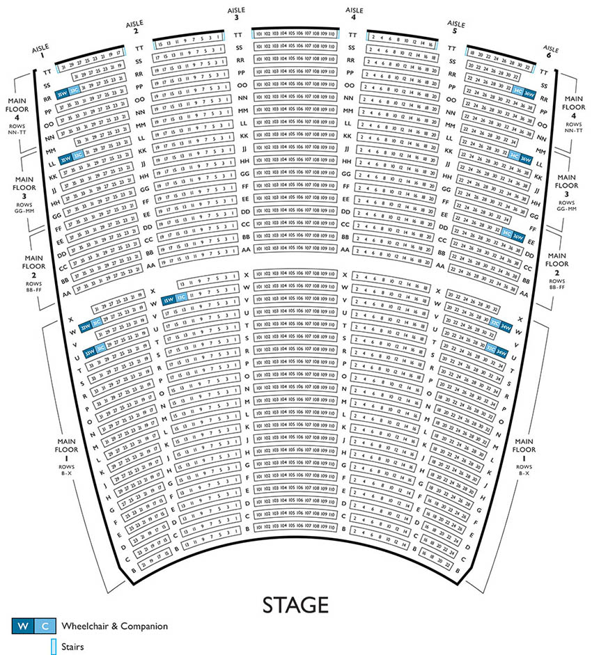 Lyric Opera Main Floor Seating Chart