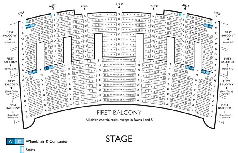 Lyric Opera Seating Chart - First Balcony