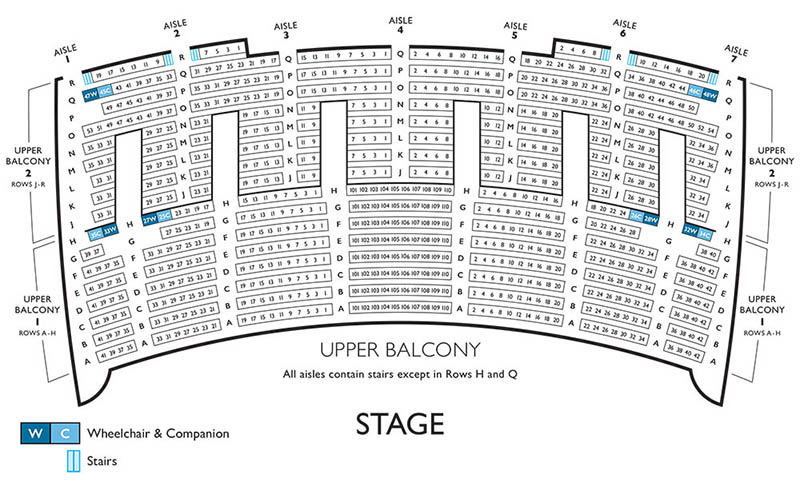 Lyric Opera seating chart - upper balcony